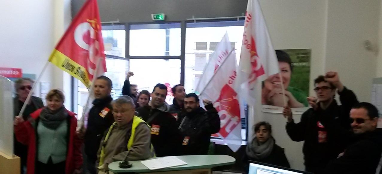 Occupation d un agence d int rim start people en for Agence interim paysagiste marseille